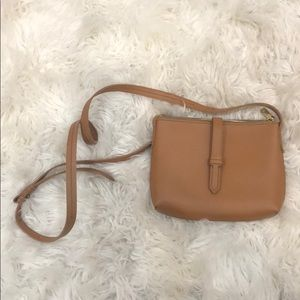 J.crew Camel Crossbody Faux Leather